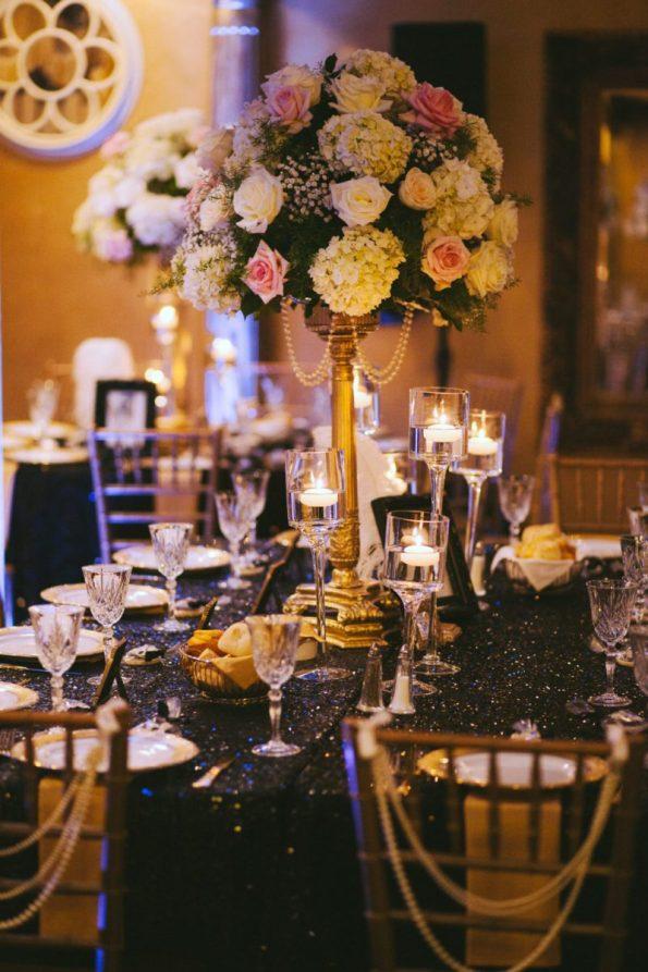 Tish-Jahmaal-964-595x893 Tishre and Jahmaal's 1920's Art Deco themed Wedding