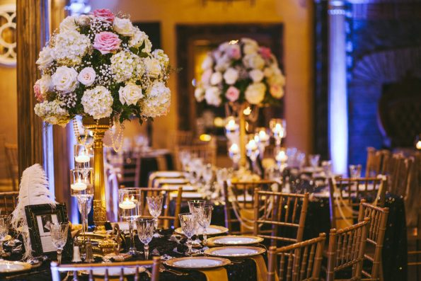 Tish-Jahmaal-980-595x397 Tishre and Jahmaal's 1920's Art Deco themed Wedding
