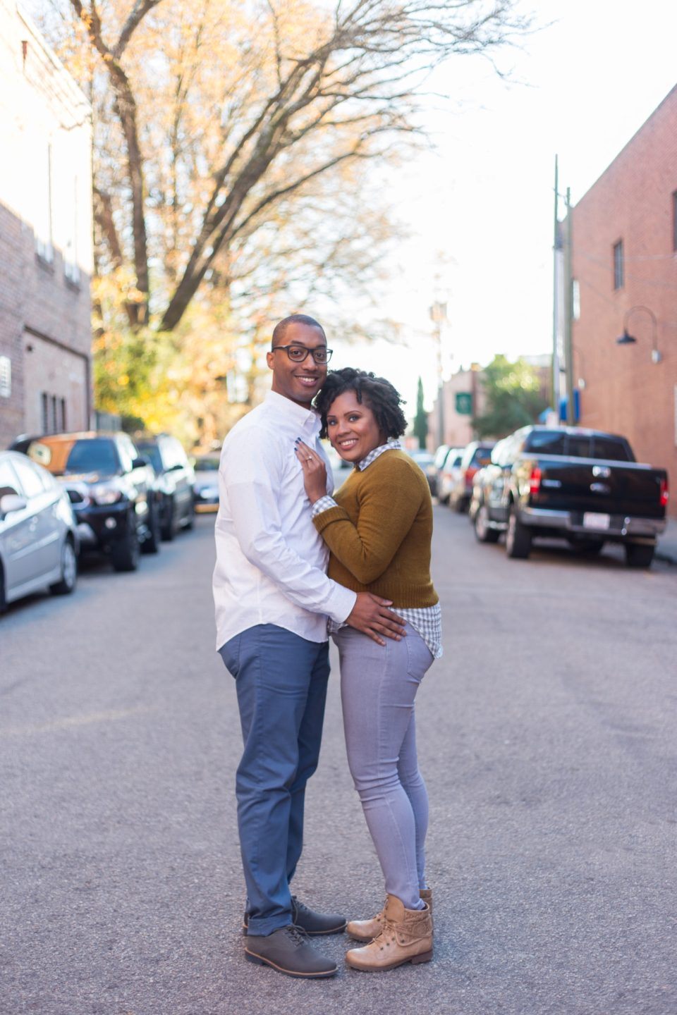 McAllister-and-Cornell-101-960x1440 Downtown Raleigh Engagement Session with Vintage Style