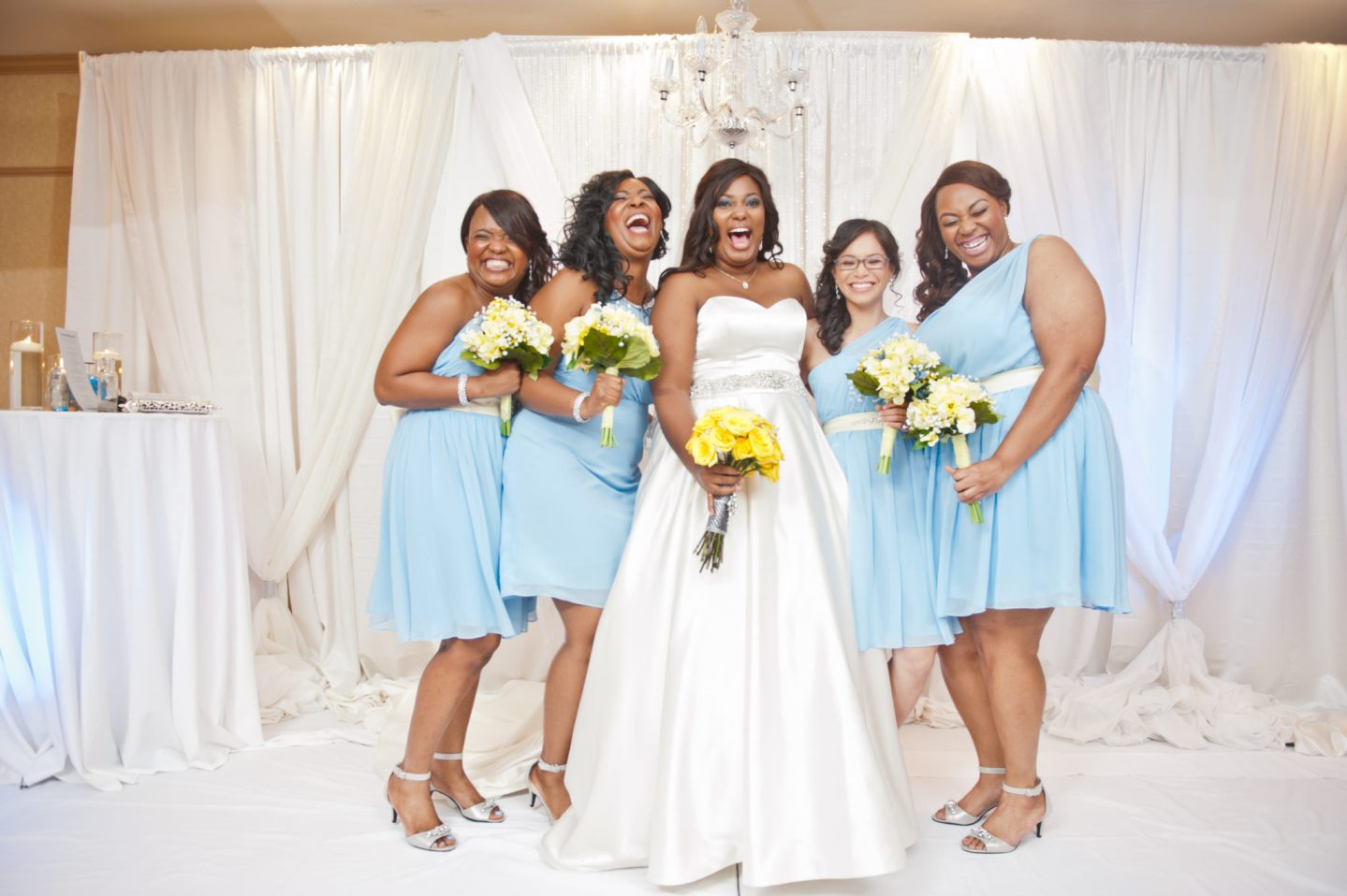FAMU Love Blossoms in Blue and Yellow Georgia Wedding 10