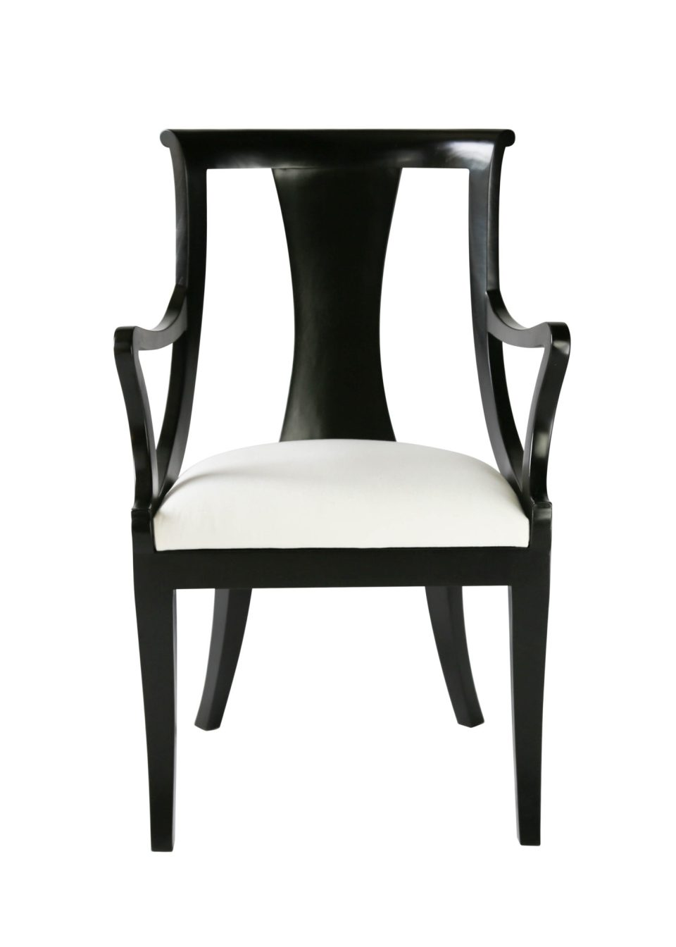 Carlyle Dining Chair Arms Front View copy