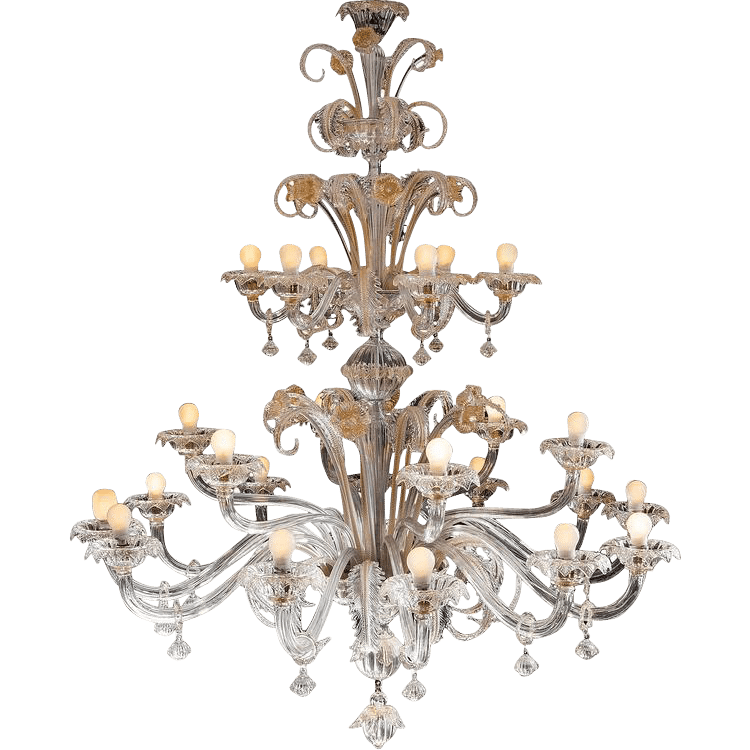 Impressive-Pair-of-Murano-Chandeliers-by-Barovier-Toso-1950s-from-Italian-Dealer-GALLERIA-VENEZIANI Southern Designing Tips from Founder/CEO Tom Johnson of RubyLUX