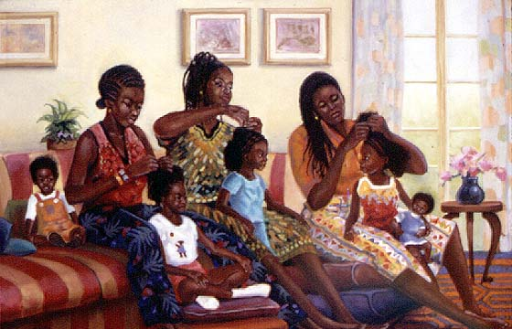 Arthello-Beck-Jr.-Braiding-Session 10 Pieces of Art a Black Southern Belle Should Have in her Home
