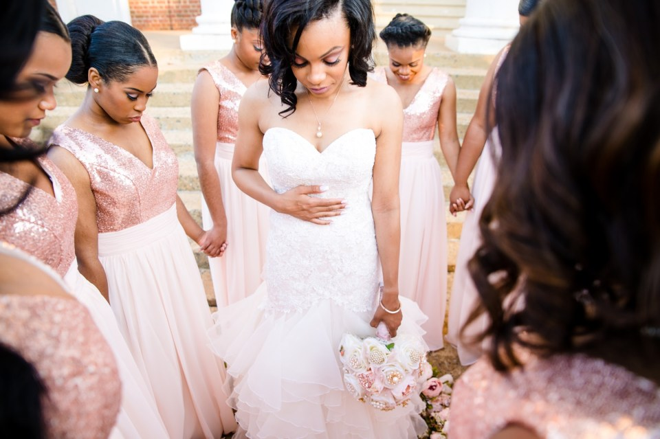 """IMG_2242-960x639 Virginia College Sweethearts Say """"I Do"""" with Blush and Rose Gold"""