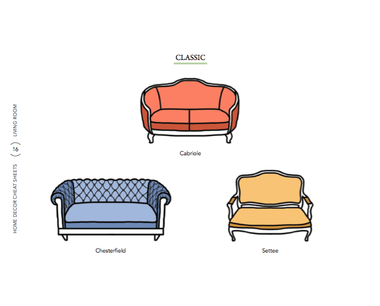 sofa-styles-3 6 Home Decor Cheat Sheets for a Southern Homeowner
