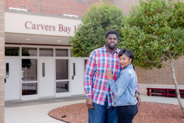 TaylorKwame-30-595x397 Georgetown, SC Engagement Session