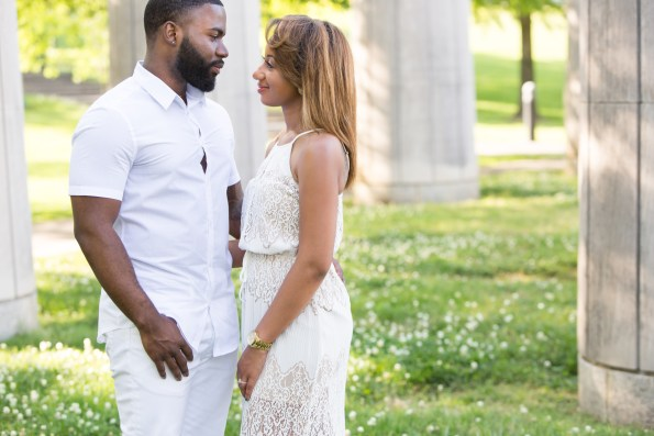 Amber-and-Adrian-Engagement-0007-595x397 Fisk University Love Engagement Session