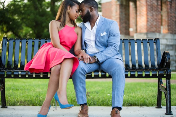 Amber-and-Adrian-Engagement-0061-595x397 Fisk University Love Engagement Session