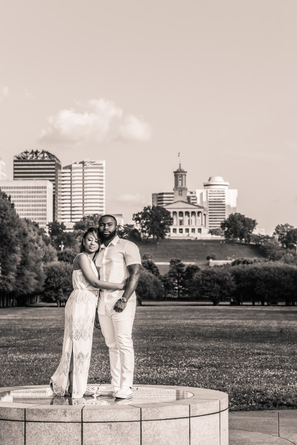 Amber-and-Adrian-Engagement-0081-595x893 Fisk University Love Engagement Session