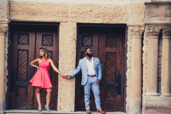 Amber-and-Adrian-Engagement-0088-595x397 Fisk University Love Engagement Session