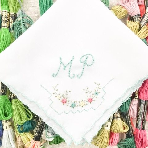 Modern-Monogram-hankie 3 Reasons to Love Monograms from Jill Mckenzie
