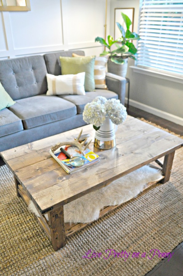 living-room-coffee-table-DIY-595x896 Home Tour: Living Pretty on a Penny with Atlanta Lifestyle Blogger