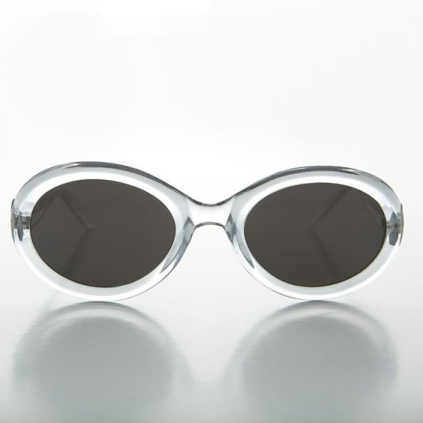 Kurt Cobain circa 1990 oval cat summer sunglasses are sleek and modern