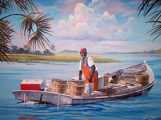Gullah_Art_Crabs Summer Seafood and African American Art - 5 Decor Pieces for the Foodie