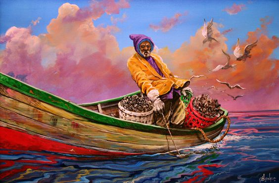 Gullah_Oysterman Summer Seafood and African American Art - 5 Decor Pieces for the Foodie
