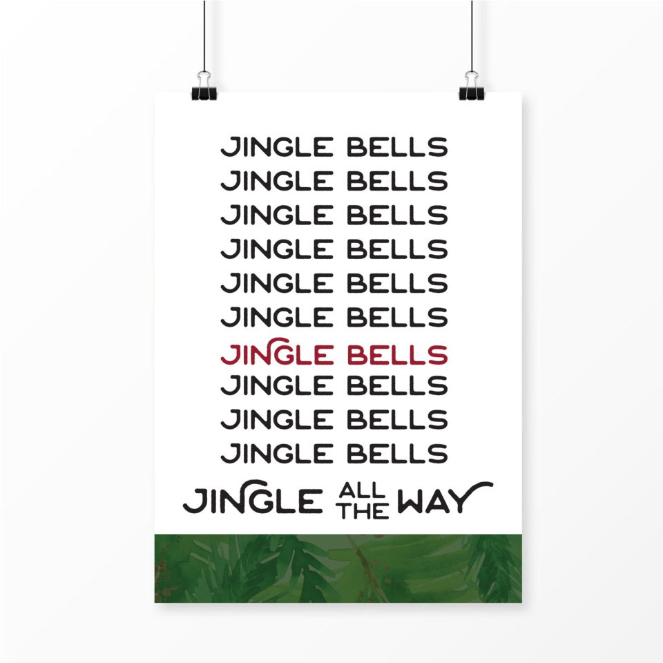 Jingle-Bells-print-960x960 Modern Holiday Decor for a Southern Home