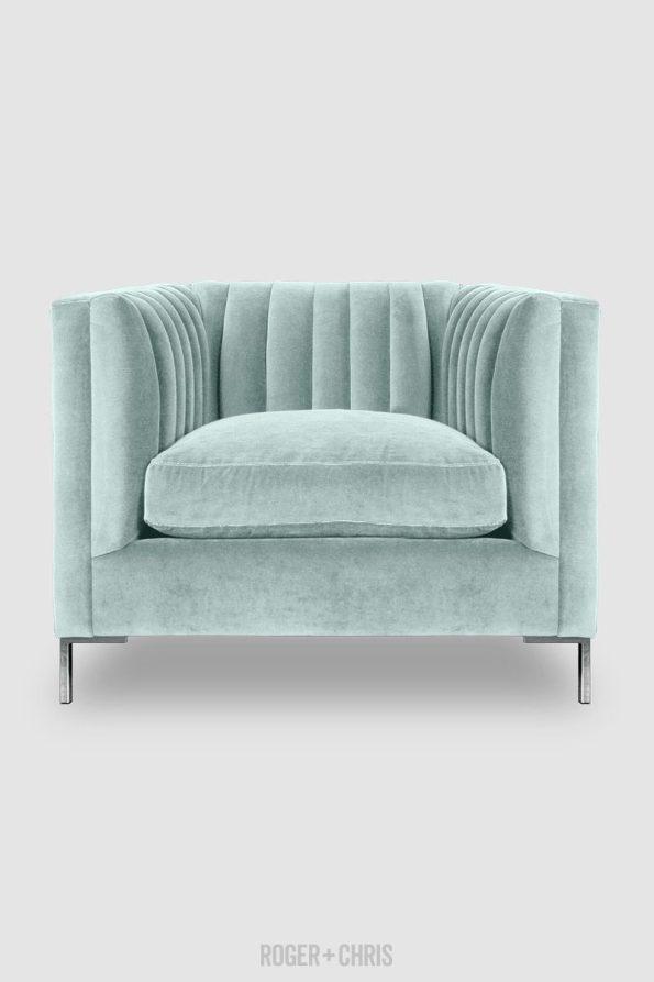 Harley-Channel-Tufted-Chair-in-Crypton-Henry-New-Aqua-performance-velvet-from-Roger-Chris-595x893 5 Looks of Velvet Inspiration for Your Home this Winter
