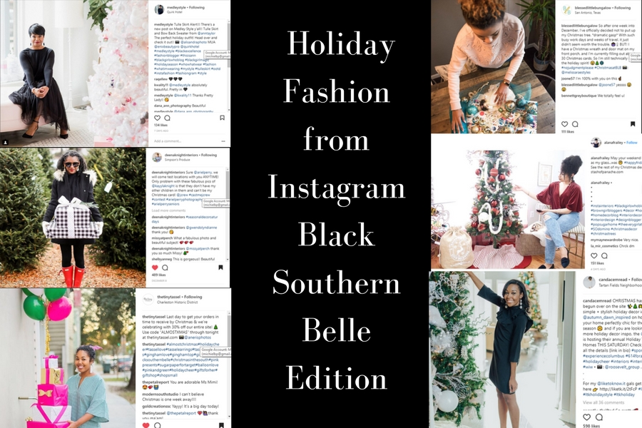 10 Images Holiday Fashion from Instagram – Black Southern Belle Edition