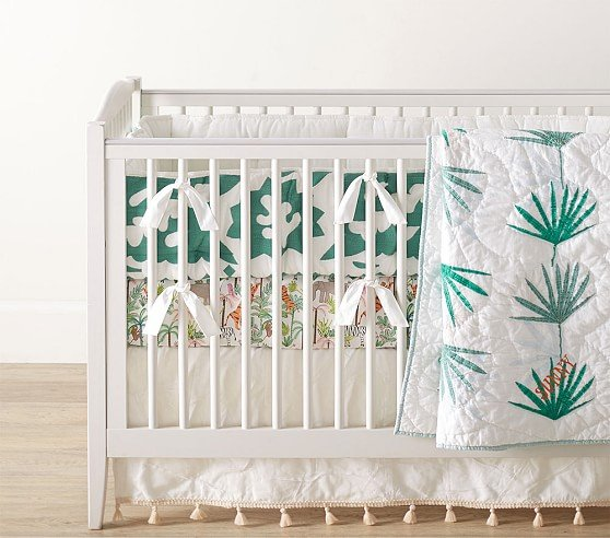 justina-blakeney-jungalino-palm-baby-bedding-c Nursery Decor We Love from Justina Blakeney - African American Nursery