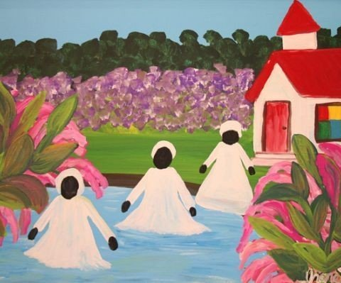 15c18ee667147d882aec7312e19e9c80-480x399 16 Images of Black Sisterhood Through Gullah Art