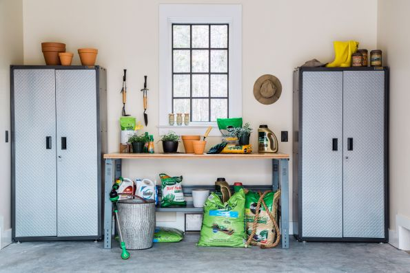 HGTV-Smart-Home-2018-Garage-Back-Wall-595x397 HGTV Smart Home Tour - Palmetto Bluff