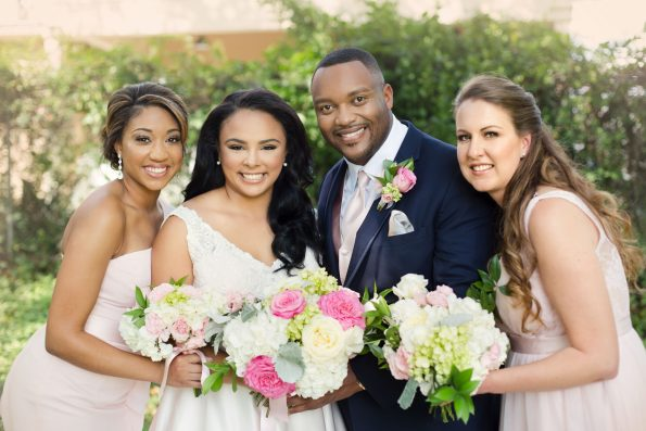 AbreaCrackel_15-595x397 Pink and Blush Southern Wedding Inspiration