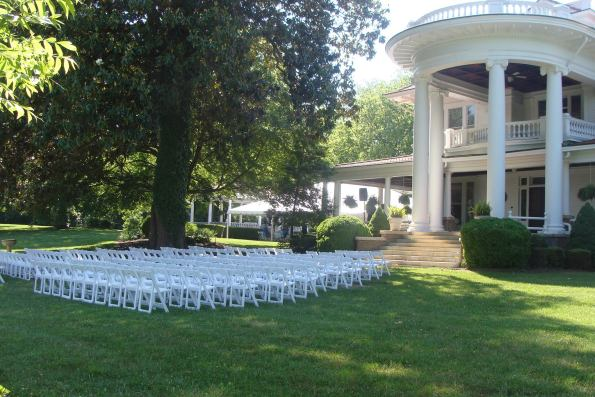 Belmont-Front-Lawn-595x397 Southern Wedding Inspiration in Reidsville, NC