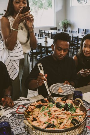 TTE-PaellaParadise-7317-300x450 North Carolina Seafood: Paella Paradise with The Table Experience