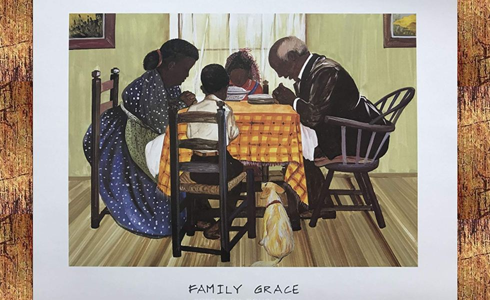 US-Art-Bronze-1.5-inch-Framed-with-FAMILY-GRACE-RELIGIOUSAFRICAN-AMERICAN-BLACK-ARTPRAYERKITCHEN-Artist-FREDERICK-DOUGLASS-980x600 Black Family Art Pieces to Add to Your Home