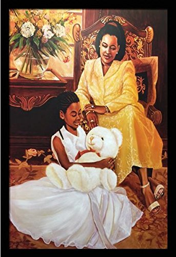 US-Art-Tender-Moments-Mother-Daughter-Katherine-Roundtree-24x32-Black-Framed-African-American-Black-Art-Print-Wall-Decor-Poster-9K18 Black Art from Katherine Roundtree We Love