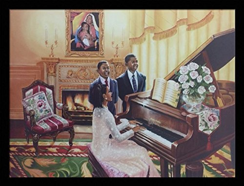 US-Art-Yes-Jesus-Loves-Me-Religious-Jesus-Katherine-Roundtree-24x32-Black-Framed-Religious-Jesus-African-American-Black-Art-Print-Wall-Decor-Poster Black Art from Katherine Roundtree We Love