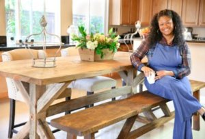 me-at-table-400x270-300x203 5 Tips for Family Friendly at Home Entertaining from Rosalynn Daniels