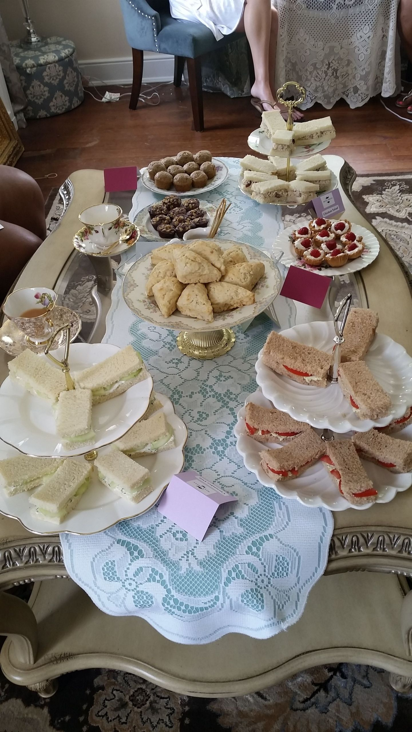 20160708_132013 4 Tips for Hosting a Bridal Suite Tea from Miss Priss Tea