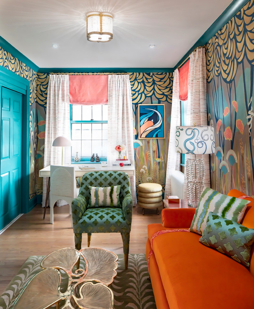 Courtney-McLeod-RMLID-JL-Showhouse_19 Tips for Adding Color and Pattern to a Room from a Louisiana Native