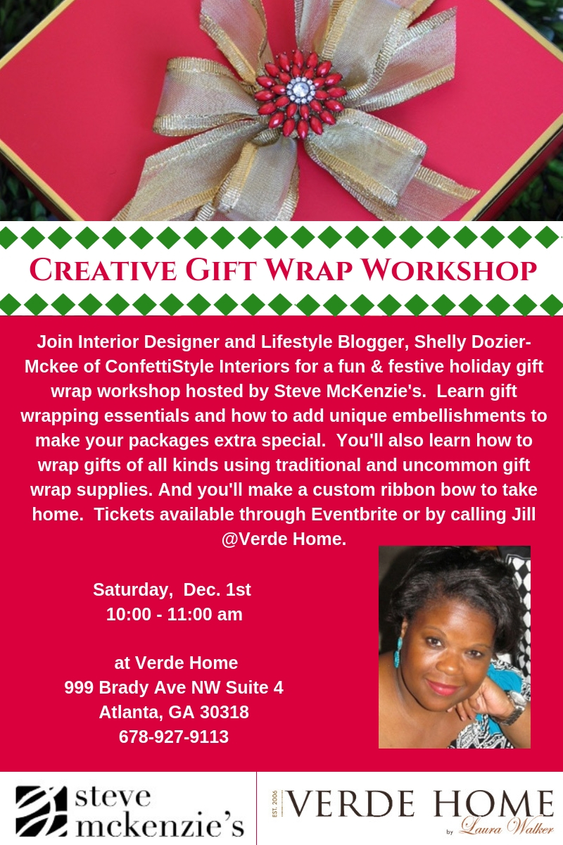 Creative-Gift-Wrap-Workshop-3 3 Tips for Preparing To Decorate Your Home For The Holidays from ConfettiStyle