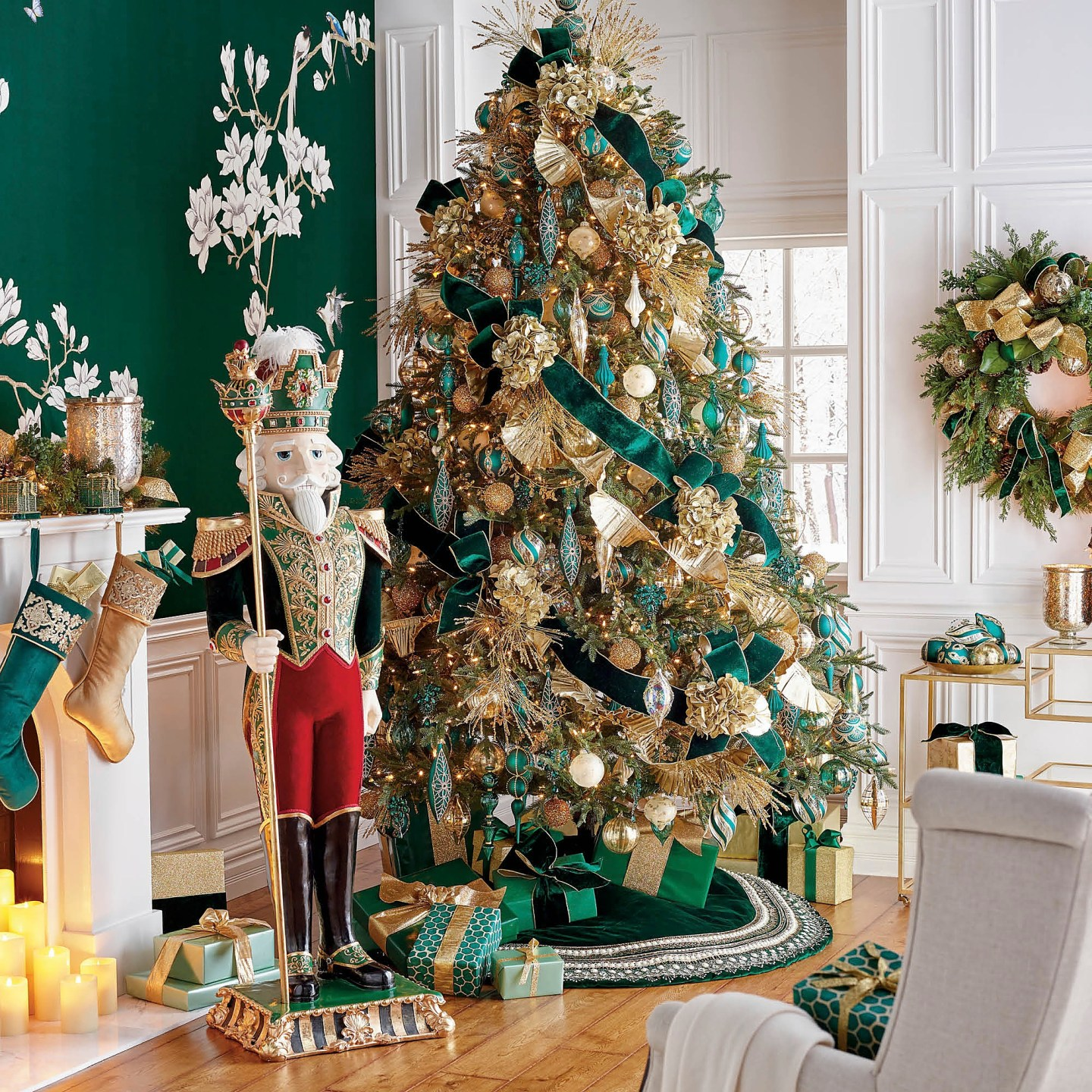 Cumberland-1 Green and Gold Holiday Decor We Love!