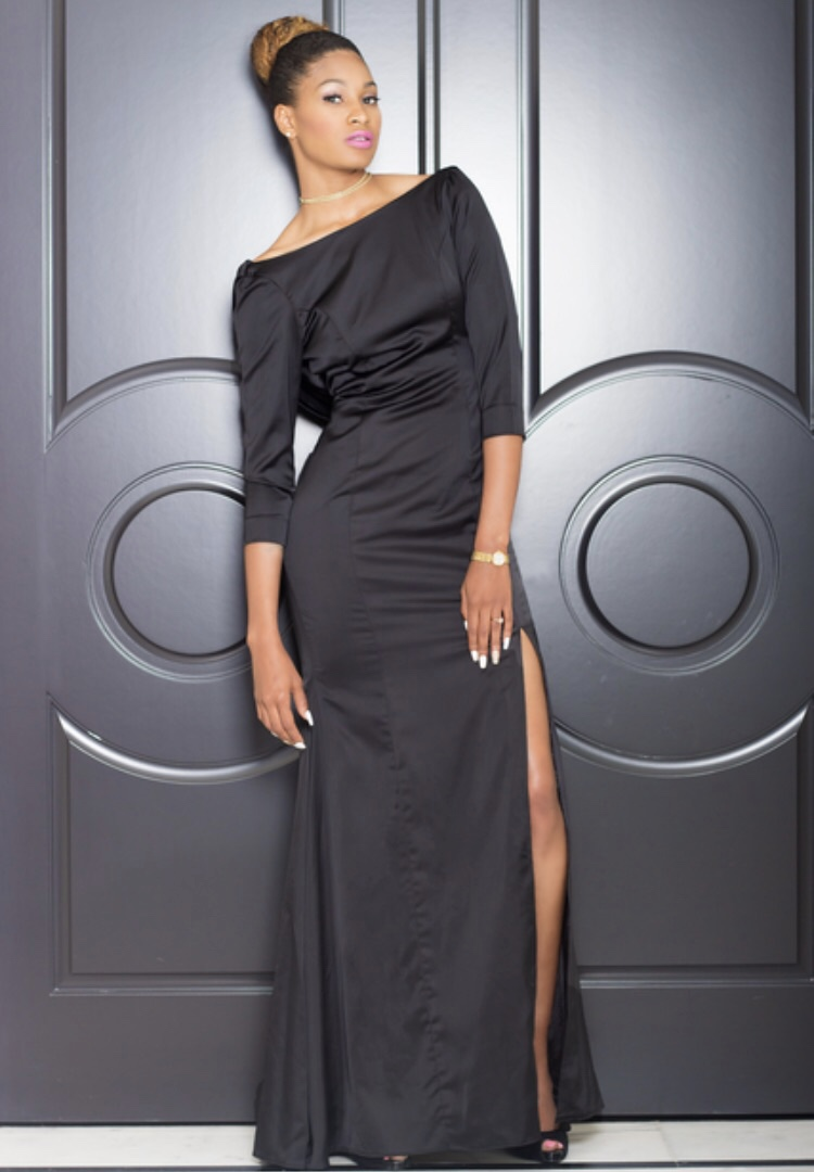 black-gown-front Southern Fashion Inspiration from a Texas Style Maven and HBCU Alum