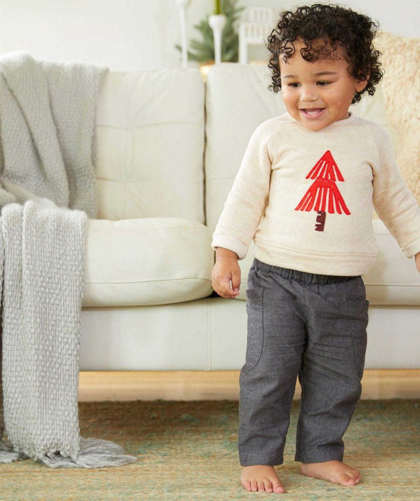 christmas-tree-top Baby Christmas Outfits We Adore