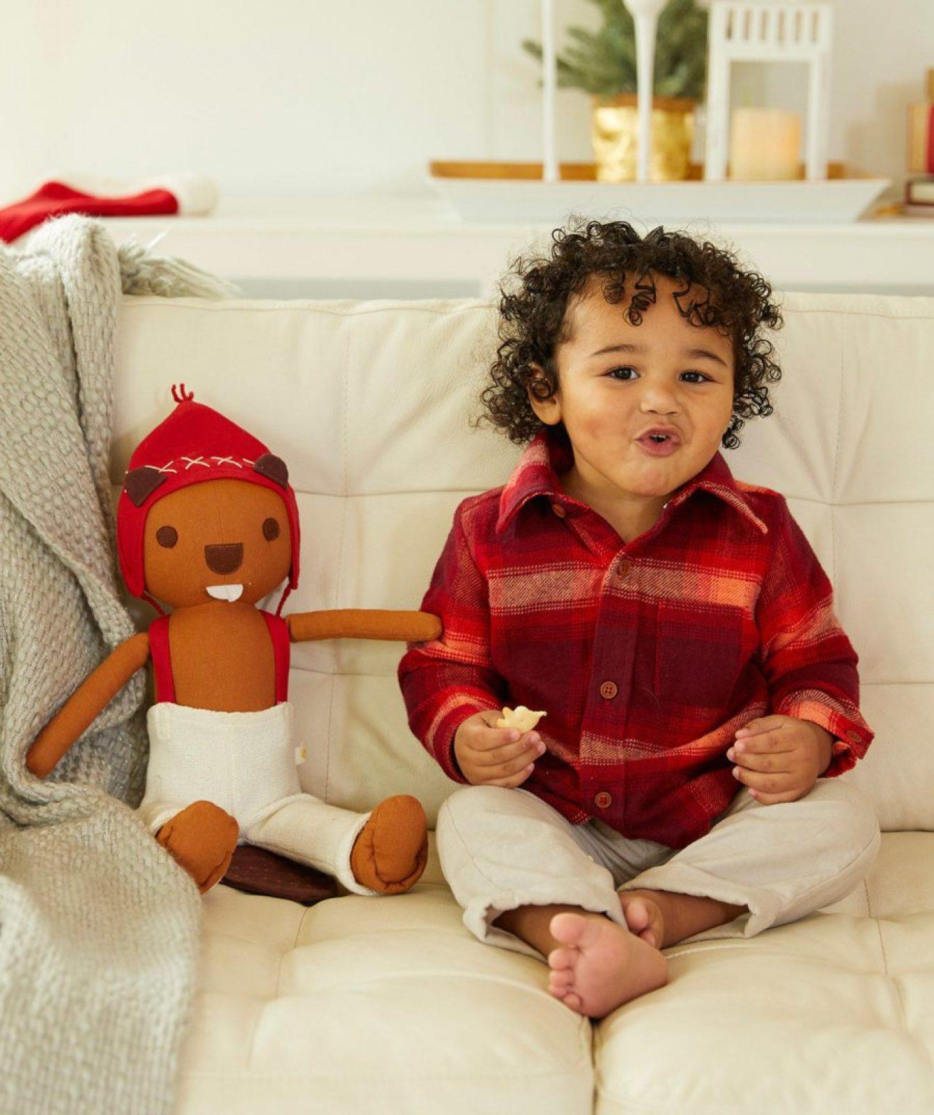 plaid-shirt Baby Christmas Outfits We Adore