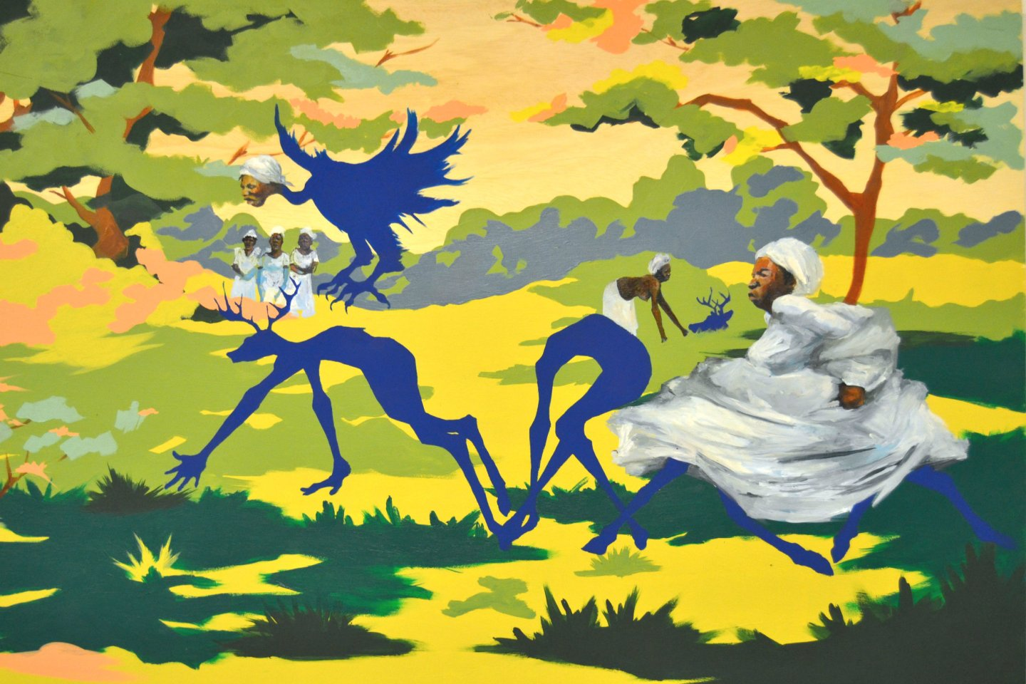 Shanequa-TALES-OF-THE-IMAGINARY-2017-50-x-36-Mixed-Media-Wood-Panel-1 10 Southern Black Women Artists to Watch from Expert Curator Jonell Logan