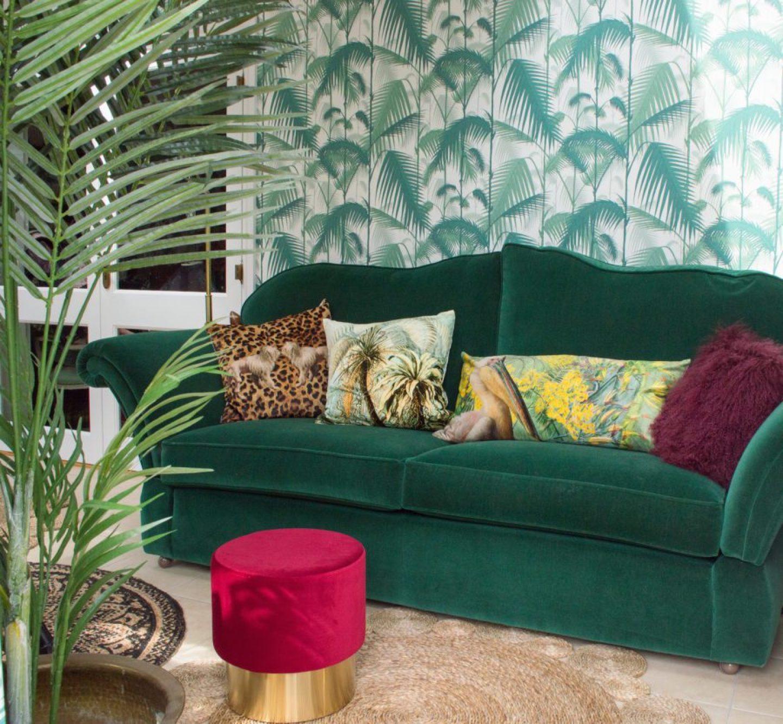 AUDENZA_2035201_RaspberryVelvetPoufWithBrassBase86.jpg-1440x1331 Pink and Green Rooms We Adore - Alpha Kappa Alpha Decor