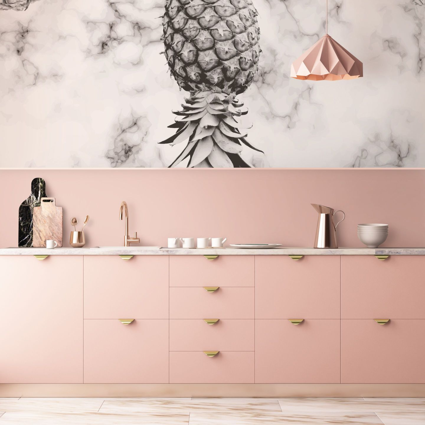 Pixers-Pineapple-Marble-Vinyl-Wall-Mural-2312837-1440x1440 Pineapple Decor: Tips for Decorating Your Home with Southern Hospitality