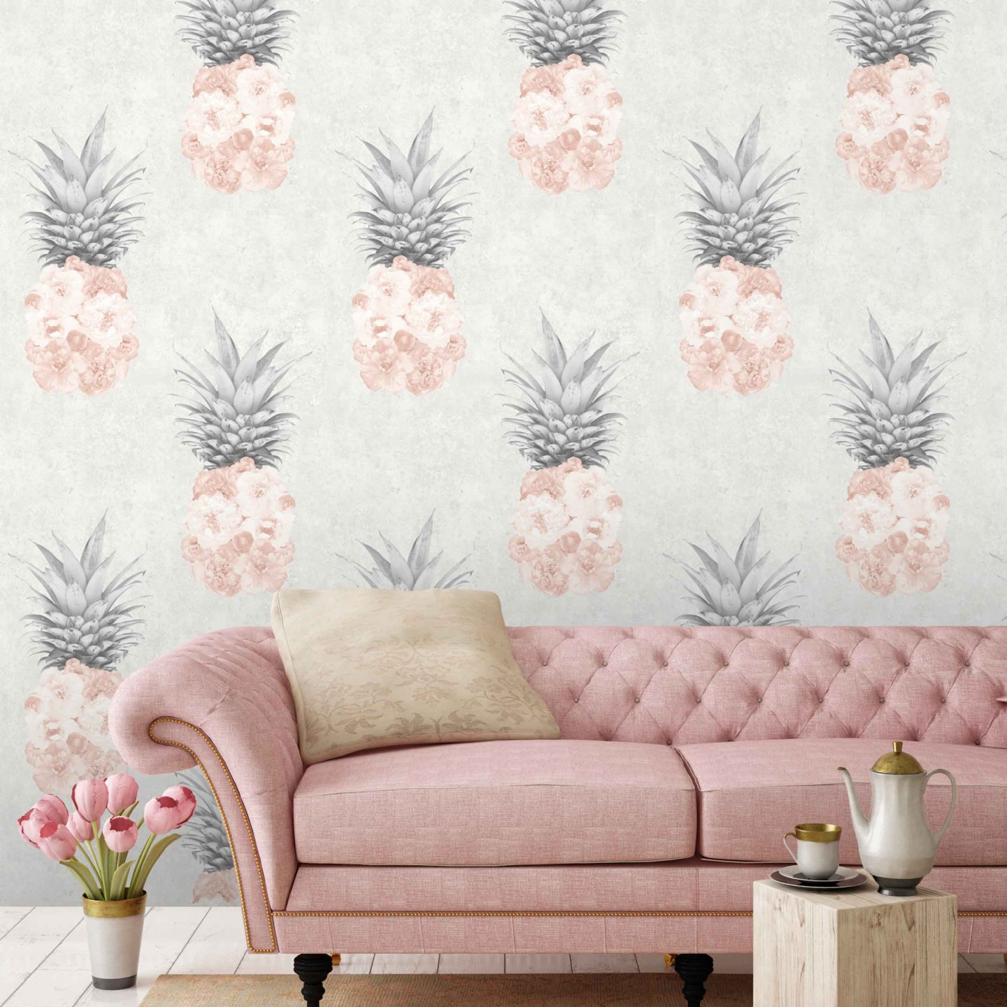 Woodchip-and-Magnolia-Ludic-Blush-Pink-Pineapple-Wallpaper-1882747-1-1440x1440 Pineapple Decor: Tips for Decorating Your Home with Southern Hospitality
