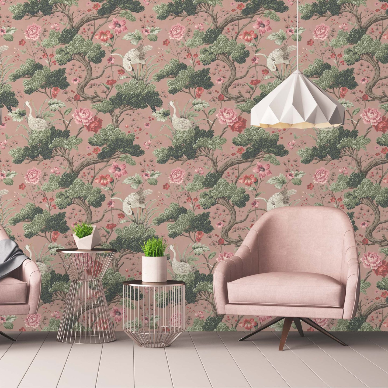 WoodchipandMagnolia_2559006_CraneBirdinVintagePink.jpg-1440x1440 Pink and Green Rooms We Adore - Alpha Kappa Alpha Decor
