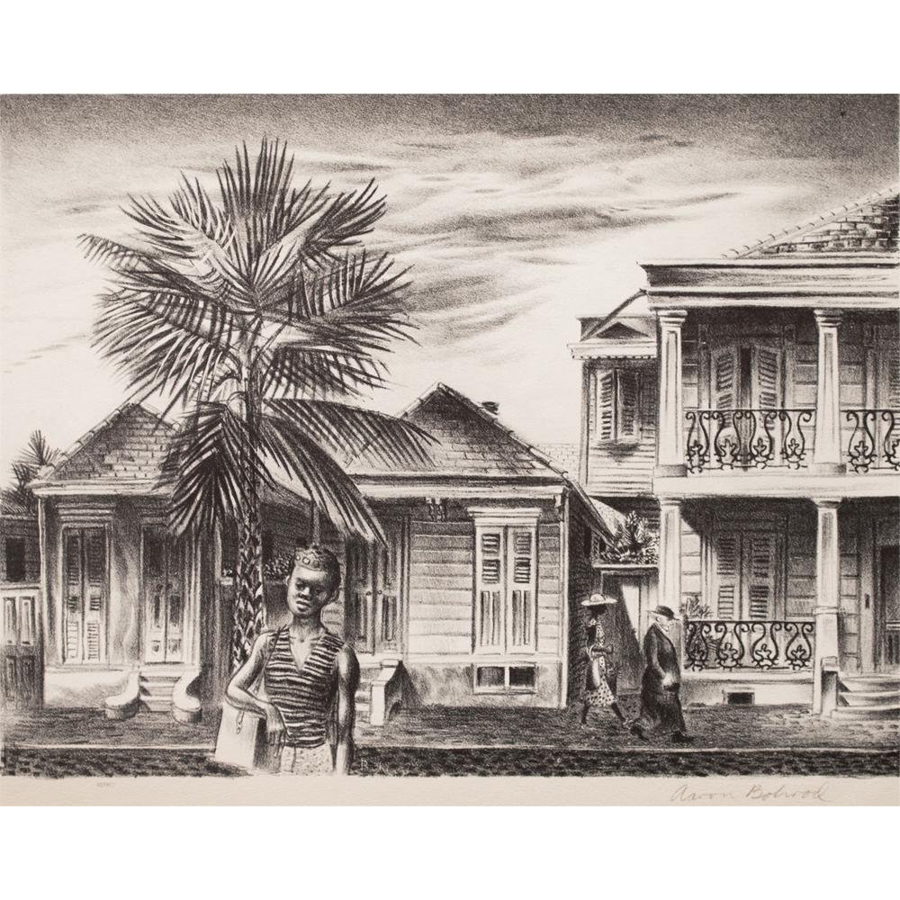 1939-new-orleans-street-by-aaron-bohrod-period-photogravure-6687 How to Style Your Living Room for Mardi Gras with Chairish