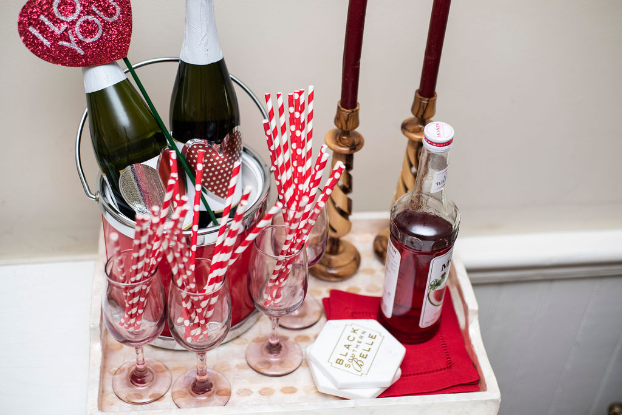 Drink Inspiration: Valentine's Day Drink Tray Decor