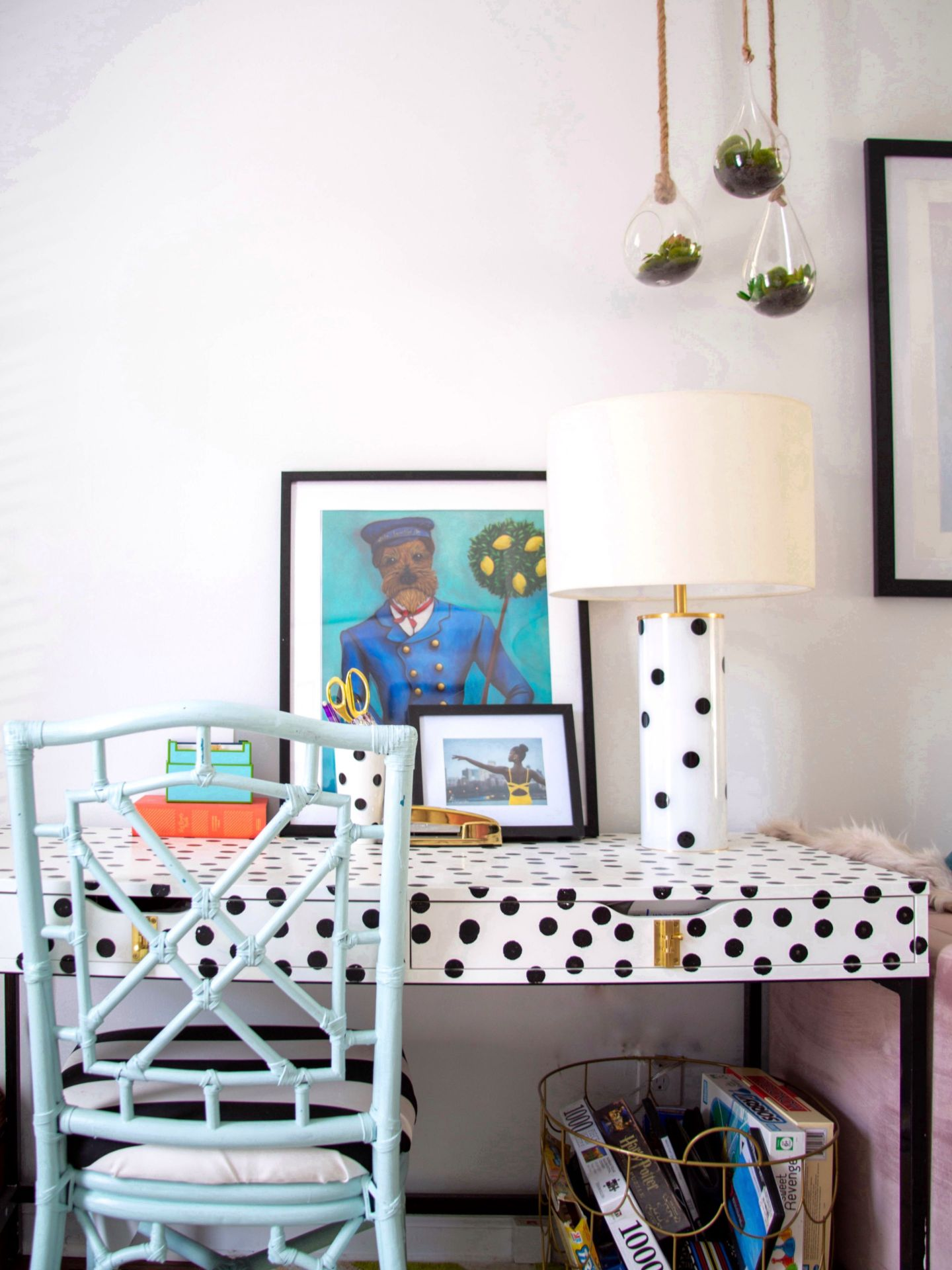 Desk1-1440x1920 Black Southern Belle Blogger Home Tour: Preppy Home  Style in Raleigh, NC