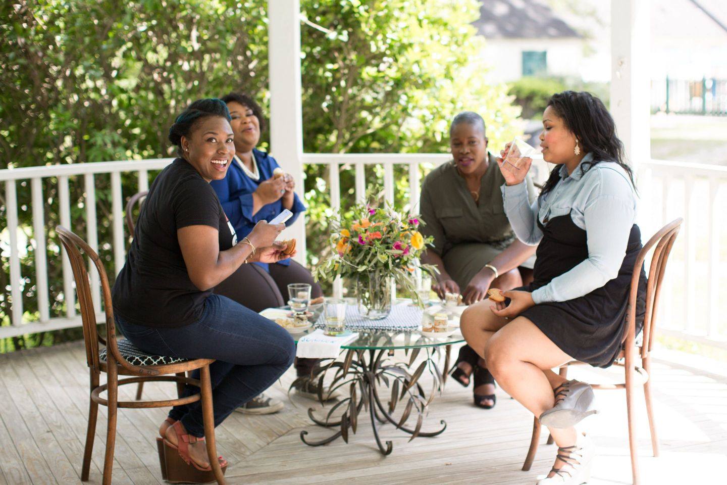 Front-Porch-0122-1440x960 Southern Entertaining: Front Porch Party with Dessert and Drinks
