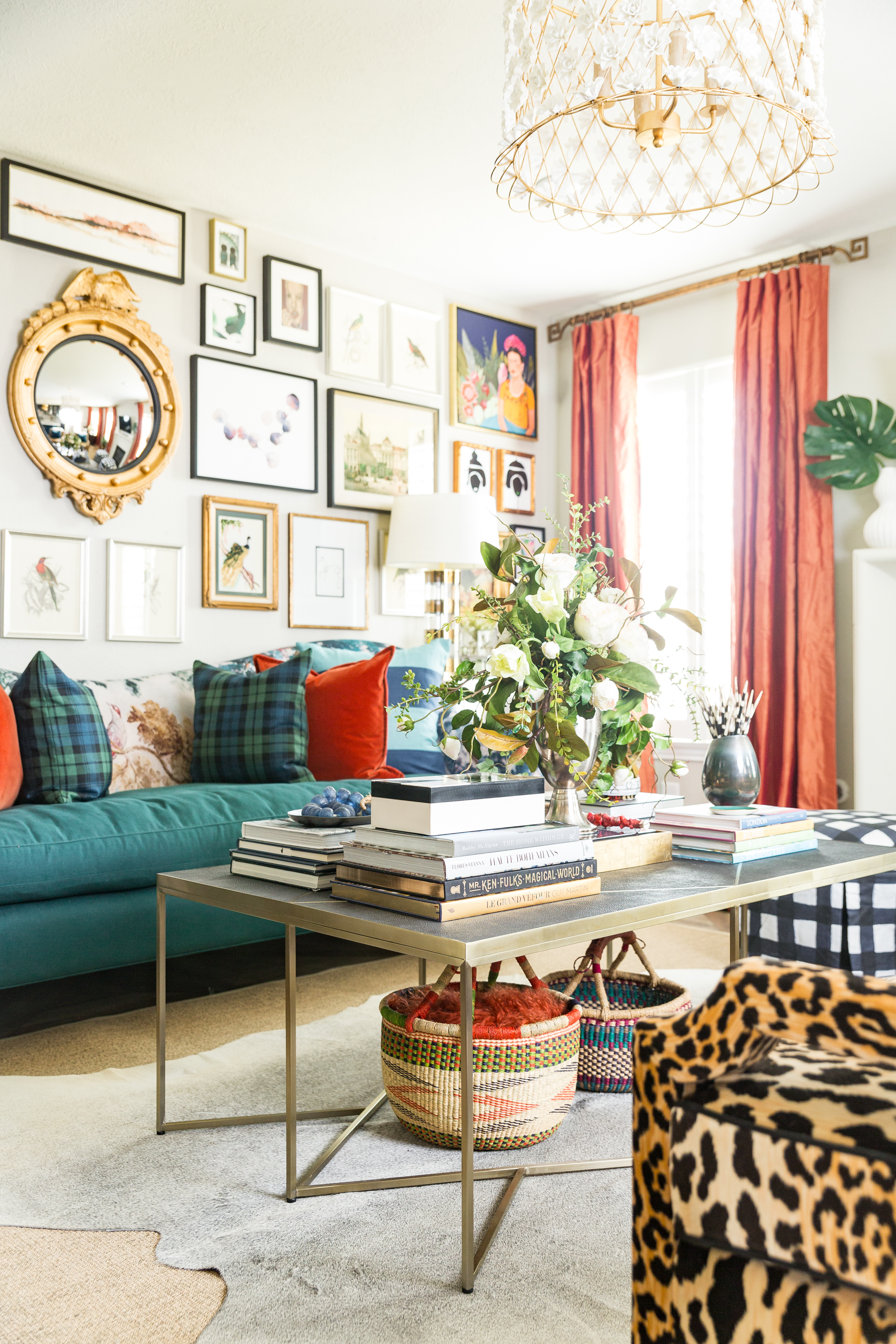 A maximalist living room