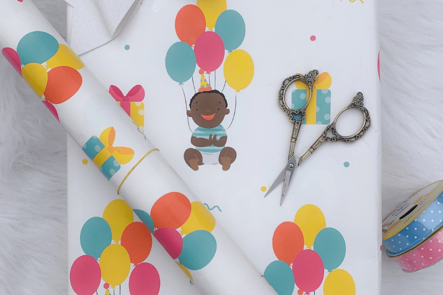 Black Owned Paper Goods  Company Gives 3 Tips for How to Wrap Kid's Birthday Gifts